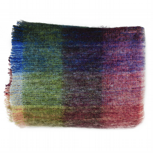 Pure Wool Mohair Throw - Monet